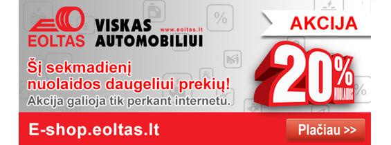 20 proc nuolaida internetu